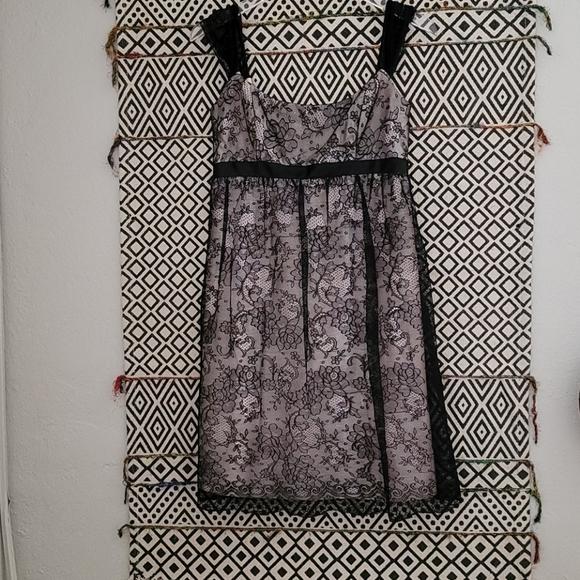 Black Lace Jessca McClintock Cocktail Dress